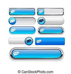 Forum high-detailed web button collection. - Forum blue...