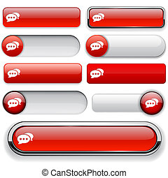 Forum high-detailed web button collection. - Forum red ...