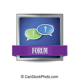 Forum icon button illustration