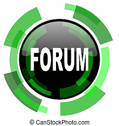 forum icon, green modern design isolated button, web and mobile app design illustration