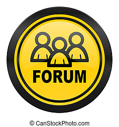 forum icon, yellow logo