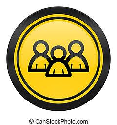 forum icon, yellow logo