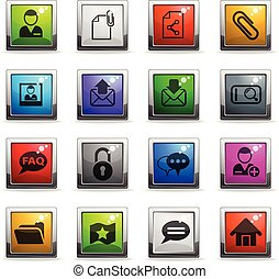 forum interface icon set