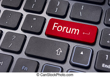 forum, ligne, ou, internet, discussion