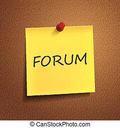 forum, mot, poteau-il