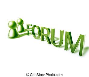 forum, mots, ligne