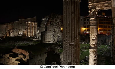 forum Nervae Time Lapse - ancient Roman Forum time lapse