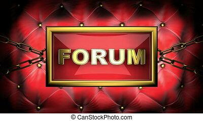 forum  on velvet background