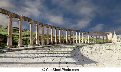 Forum (Oval Plaza)in Gerasa, Jordan - Forum (Oval Plaza) in...