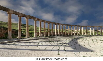 Forum (Oval Plaza)in Gerasa, Jordan - Forum (Oval Plaza) in...