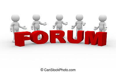 """forum"", palabra"
