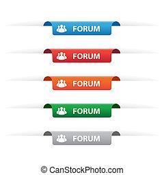 Forum paper tag labels