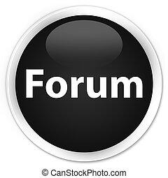 Forum premium black round button