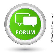 Forum prime soft green round button