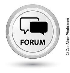 Forum prime white round button
