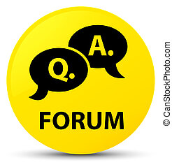 Forum (question answer bubble icon) yellow round button