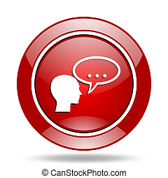 forum red web glossy round icon