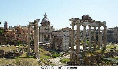 forum, romain ancien, italie, ruines, |