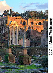 Forum Romanum Evening - Evening at the ruins of the Forum...