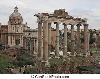 Forum Romanum. Monuments of Rome
