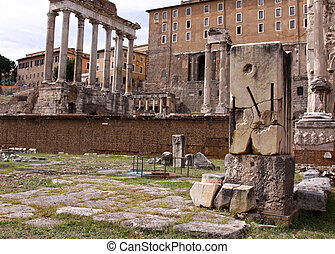 Forum Romanum - The Temple of Saturn and the Temple of...