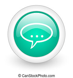 forum round glossy web icon on white background