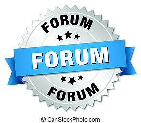 forum round isolated silver badge