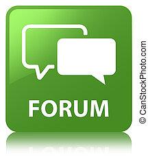 Forum soft green square button