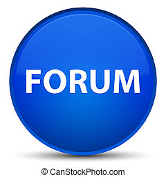 Forum special blue round button