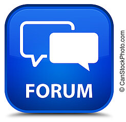 Forum special blue square button