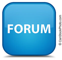 Forum special cyan blue square button