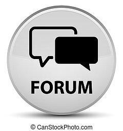 Forum special white round button