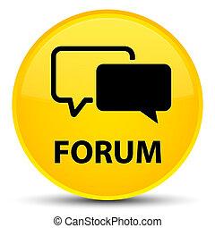 Forum special yellow round button