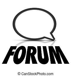 Forum Speech Bubble Communication Talking Words