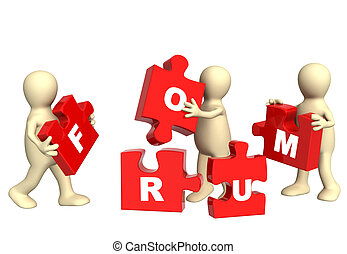 Forum - Conceptual image - success of teamwork