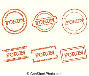 forum, timbres