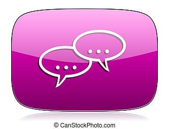 forum violet icon chat symbol bubble sign