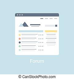 forum, wireframe