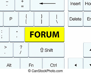 Forum yellow keyboard button