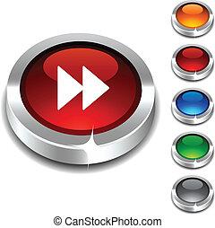 Forward 3d button set. Vector illustration.