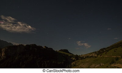 Forward and reverse fast timelapse of pedra forca at night...