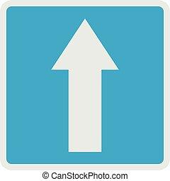 Forward arrow icon, flat style.