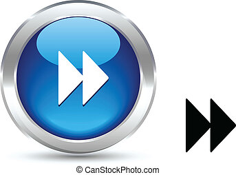 Forward button. - . Forward realistic button. Vector...