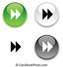 Forward button. - Forward glossy round vector buttons.