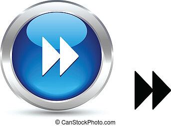 Forward button. - . Forward realistic button. Vector ...