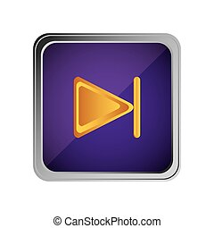 forward button icon with background purple