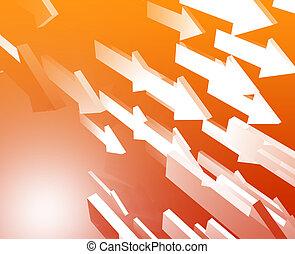 Forward flying arrows - Forward moving arrows flying group...