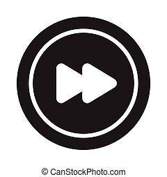 forward glyph flat vector icon
