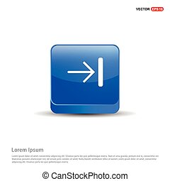 Forward Icon - 3d Blue Button