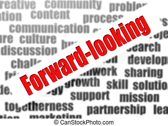 Forward-looking word cloud